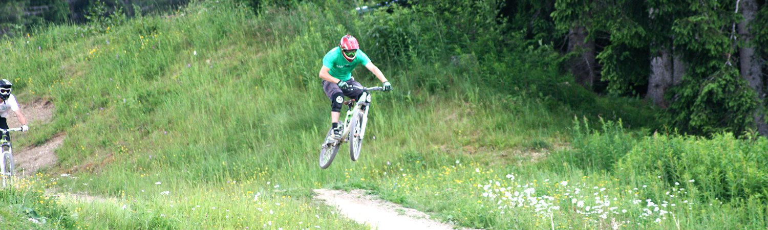 Mountain Biker in Les Gets